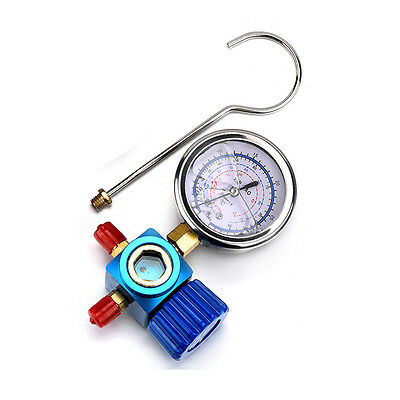 Blue Air Conditioner Refrigerant Low Pressure Gauge PSI  For R410A R134A R22