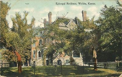 Wichita Kansas~Episcopal Residence~Victorian Mansion~1910 Postcard