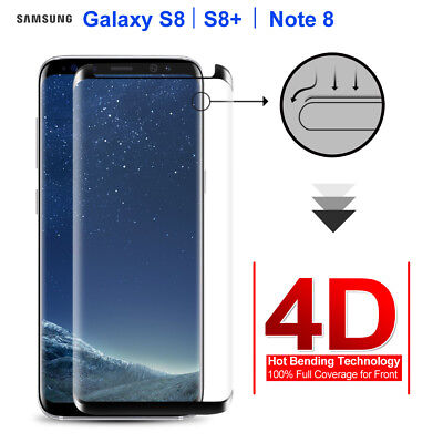 Samsung Galaxy S8 Plus Note 8 4D Full Cover Tempered Glass Screen Protector LC
