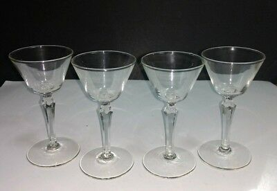 "Cristal D' Arques CHANTILLY Plain 5 1/2"" LIquor Cocktail Glasses ~ Set of 4"