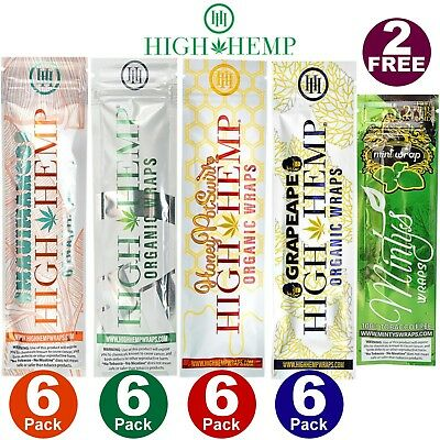 High Hemp COMBO DEAL Herbal Organic Wraps 24 pouches(48 total wraps) 0 Nicotine