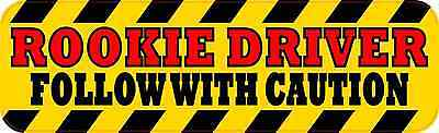 10 x 3 Rookie Driver Bumper Sticker Vinyl Vehicle Window Decal Caution Stickers
