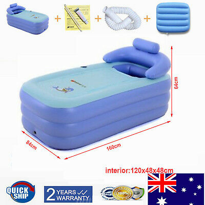 Foldable Inflatable Blowup Bathtub Adult PVC Bath Tub Home Spa Relaxing Bathtub