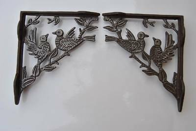 2 vtg victorian cast iron wall shelf eastlake brackets antique style 15.5 x 18cm