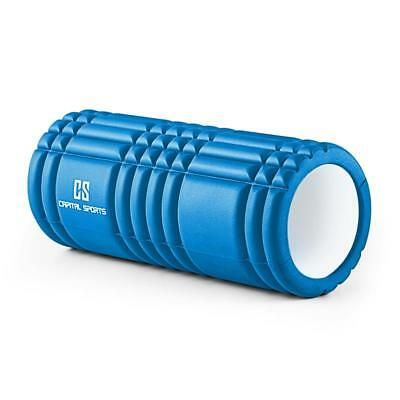 NEW BLUE 33X14 cm YOGA EXERCISE RELAX MASSAGE FOAM ROLLER * FREE P&P UK OFFER
