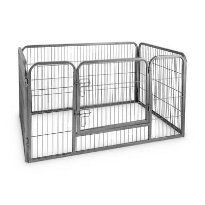 Animal Puppy Enclosure Fence Free Running Playpen 125 X 85Cm * Free P&p Uk
