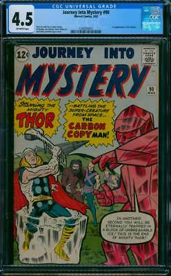 Journey into Mystery # 90  The Carbon Copy Man !  CGC 4.5  scarce book !