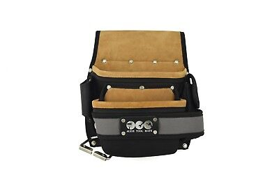 Heavy-Duty Polyester With Eva Padding And Suede Leather Nail Bag