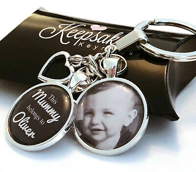 Personalised Photo Keyring - Belongs to - Birthday Present Christmas Gift Box
