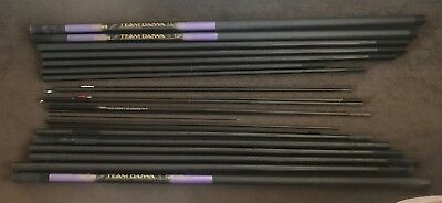 Team Daiwa TDP 110 Pole Whisker Carbon w/ Extension & Spare Sections & Extras