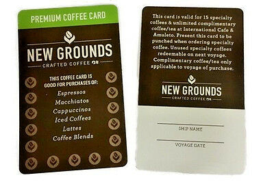 2 Princess Cruises New Grounds Premium Coffee Cards Unused UnSigned FREE SHIP