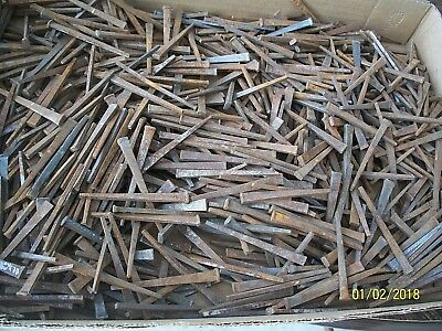 "4+ Pounds Of Old-Antique Steel Cut Square Nails, 95% Are 2 1/2"" Long, And Unused"