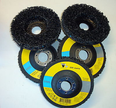 5 x 115mm Clean and Strip wheel Angle Grinder Disc Paint Rust Removal Metal