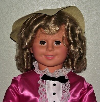 """ADORABLE 36"""" Shirley Temple Doll """" LITTLE COLONEL""""-Stand, COA,Cover-LOOK !"""