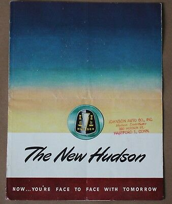 Nice 1948 The New Hudson Owners Sales Color Brochure Service Parts