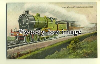 ry1065 - L.& S.W.R Express, Steam Engine No.453 - postcard