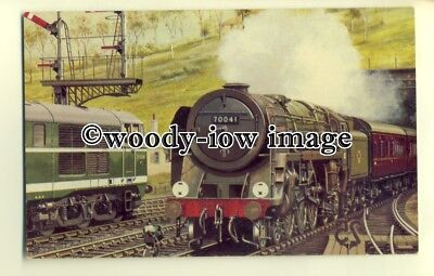 ry1075 - E.R Norwich Express headed by Britannia class 4-6-2 No.70041 - postcard