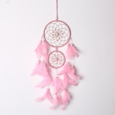 Pink Dream Catcher Girls Dreamlike Feather Dreamcatcher Wall Hanging Home Decor