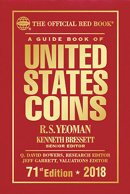 2018 Guide Book of United States Coins U.S.- HARDBOUND - 71st Edition, RED BOOK
