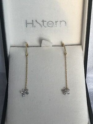 H Stern Collection 18kt yellow gold and diamond earrings new in box