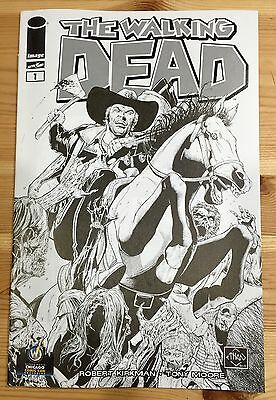 WALKING DEAD #1 Chicago 2013 SKETCH B&W Wizard World Comic Con Variant Sciver