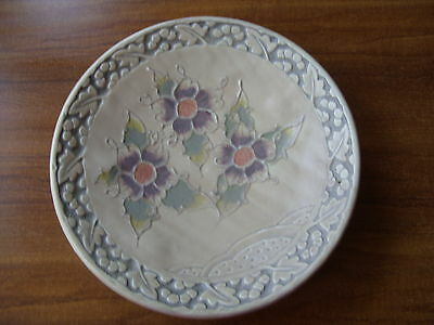 """Crown Ducal Ware Large Vintage Charger Type Footed Floral Dish Plate 12"""" - RARE"""