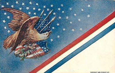 Patriotic~Eagle~Arrows~Branch~Flags~Shield~Stars~Diagonal Stripes~Emb~P Sander