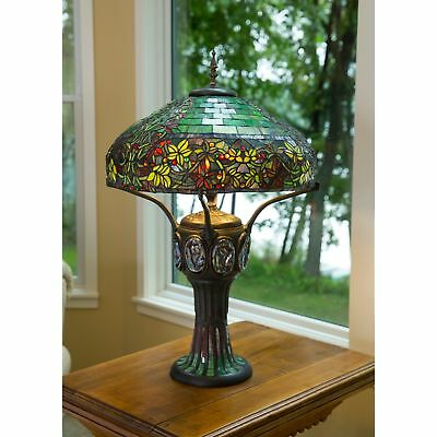 Tiffany Style Table Lamp Stained Glass Mission Craftsman Handcrafted Lighting