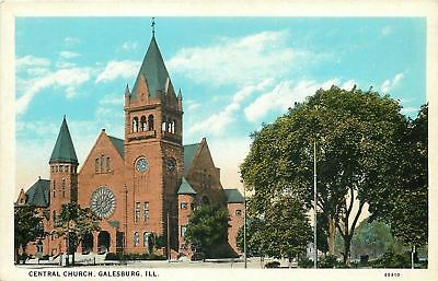 Galesburg Illinois~Central Church~Stained Glass Windows~1920s