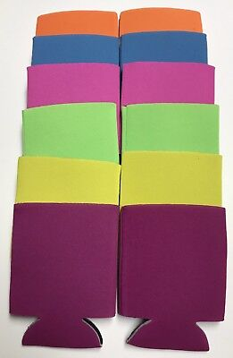 Can Cooler Huggie Koozie Blank Lot 12 Pk Mix Summer  Sublimation Free Shipping