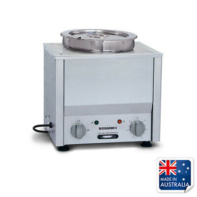 Bain Marie Hot 1/2 Size with 7.25L Round Pot Roband Soup & Sauce Warmer