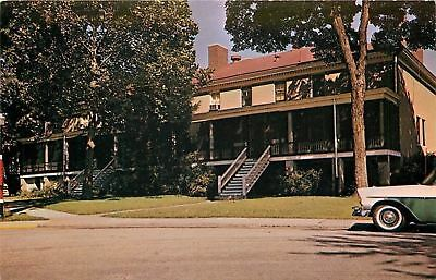 Ft Leavenworth Army Post~Kansas~The Rookery~1950s Car~Postcard