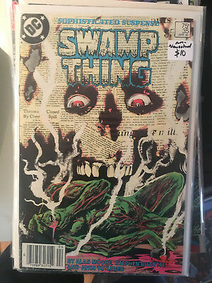 SWAMP THING #35 NM- 1st Print ALAN MOORE Newsstand Edition