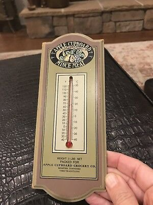 Indoor or outdoor thermometer Vintage Apple Cupboard Grocery Co Memphis TN ~ GUC