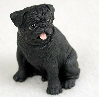 PUG (black) TINY ONES DOG Figurine Statue Pet Lovers Gift Resin