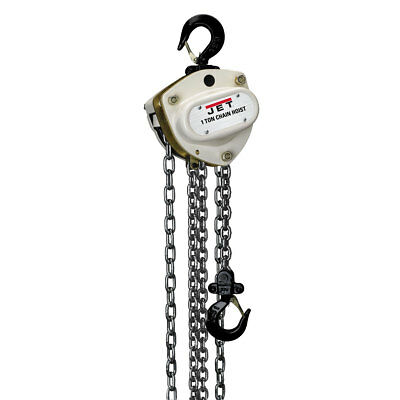 Jet 203130 L-100-100WO-30 1-Ton Hand Chain Hoist 30' Lift, Overload Protection