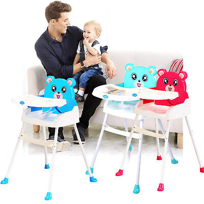 iSafe Foldable baby high chair recline highchair height adjustable feeding seat