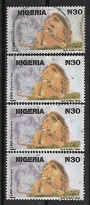 1992 NIGERIA 4 USED STAMPS (Michel # 610) CV €6.00