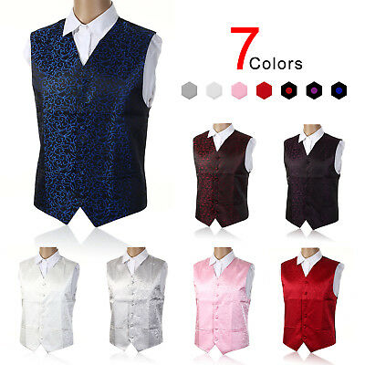 "Top Swirl Mens Wedding Party Waistcoat Chest Available S-5XL Size 36""-50"" UK"