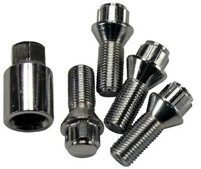 Set of 4 locking spy secret bolt screw M12X1,25 26mm thread