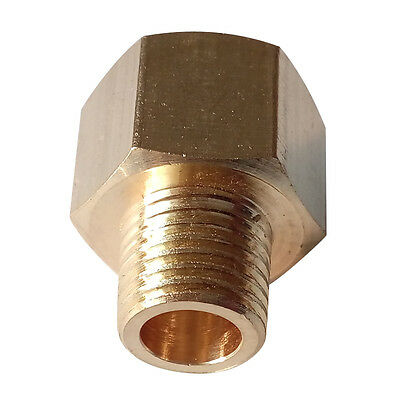 """BSP-NPT Adapter 3/8"""" Male NPT to 3/8"""" Female BSPP Brass Pipe Fitting Euro to US"""