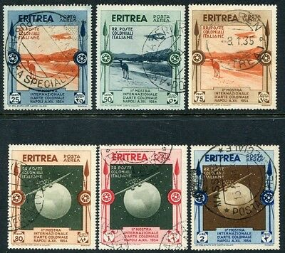 ERITREA-1934 Colonial Exhibition Air Set of 6 Values Sg 222-227 FINE USED V20979
