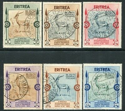 ERITREA-1934 Colonial Exhibition Postage Set of 6 Values Sg 216-221 FINE USED