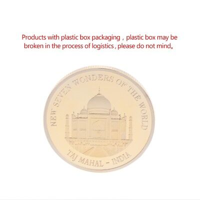 Golden Taj Mahal India Commemorative Challenge Coin Souvenir Art Craft Gift