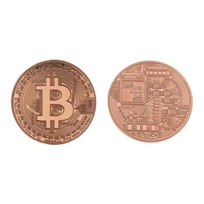Physical Plated Rose Gold Bitcoin BTC Coin Collectible Coin Art Collection Gift