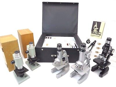 ROW Rathenow Revue COC Mikroskop Microscope Koffer 5x Lot iy032