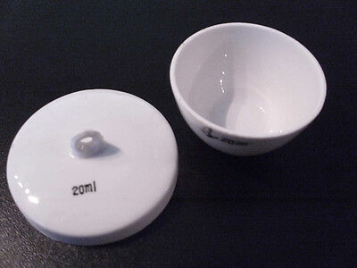 Porcelain Squat Form Crucible - 20ml - New and unused