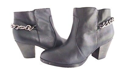 ddb2eb09a4d1f5 WOMEN S BLACK LEATHER Circus By Sam Edelman  JANNA  Ankle Boots Size ...