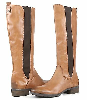 32242cd503d433 Sam Edelman Paradox Women s Tall Riding Boots Whiskey Brown Leather SZ 7M