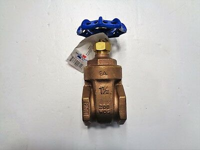 "American Valve 1-1/2"" NPT Bronze Gate Valves, #G300 **Lot of (12)**"